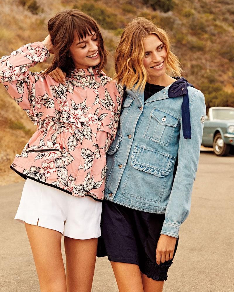 Moncler Jais Floral-Print Belted Jacket