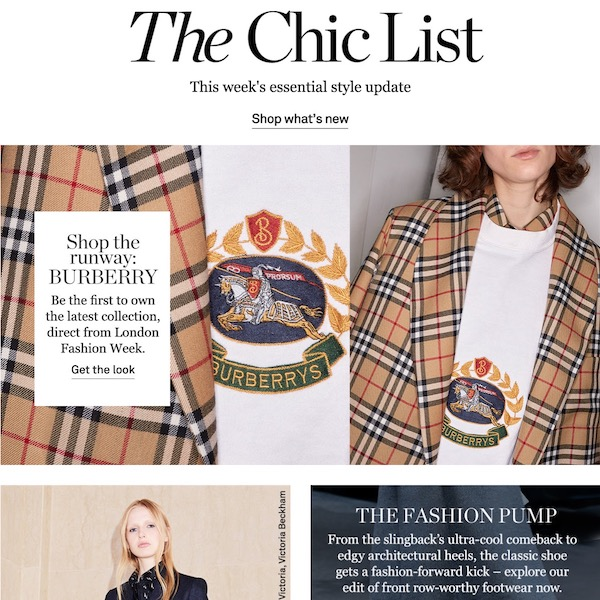 NET-A-PORTER The Chic List February 18, 2018