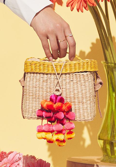 Nannacay Roge Small Pompom Bag