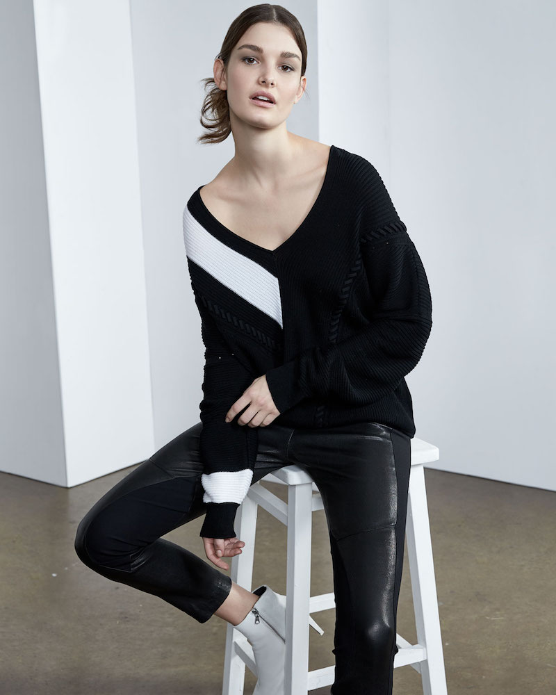 Rag & Bone Cricket V-Neck Long-Sleeve Knit Sweater