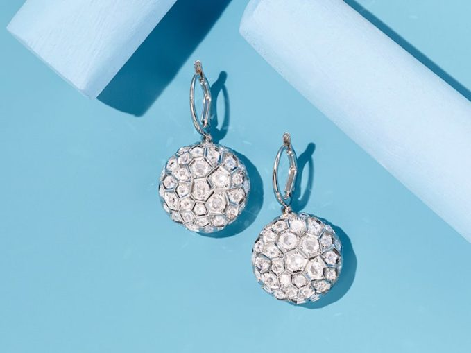 Sidney Garber Honeycomb Drop Earrings