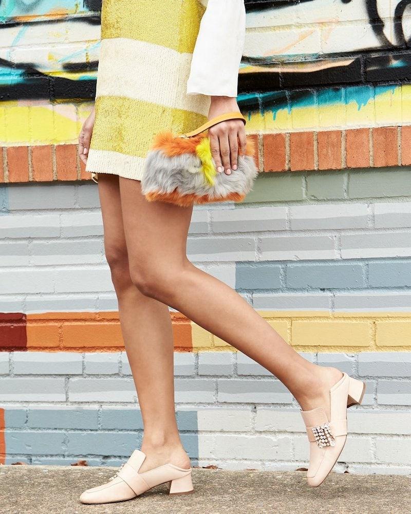 Stuart Weitzman Irises Embellished Block-Heel Loafer