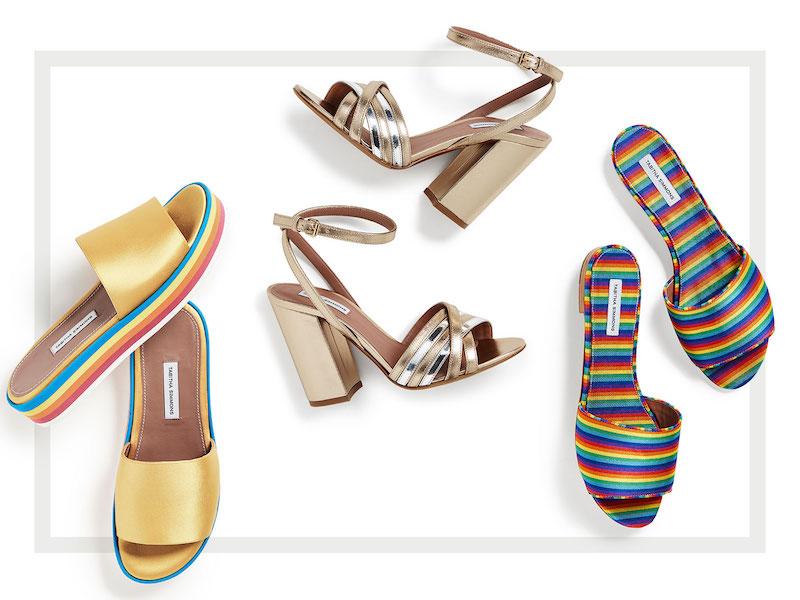 Tabitha Simmons Toni Metallic Sandal Pumps