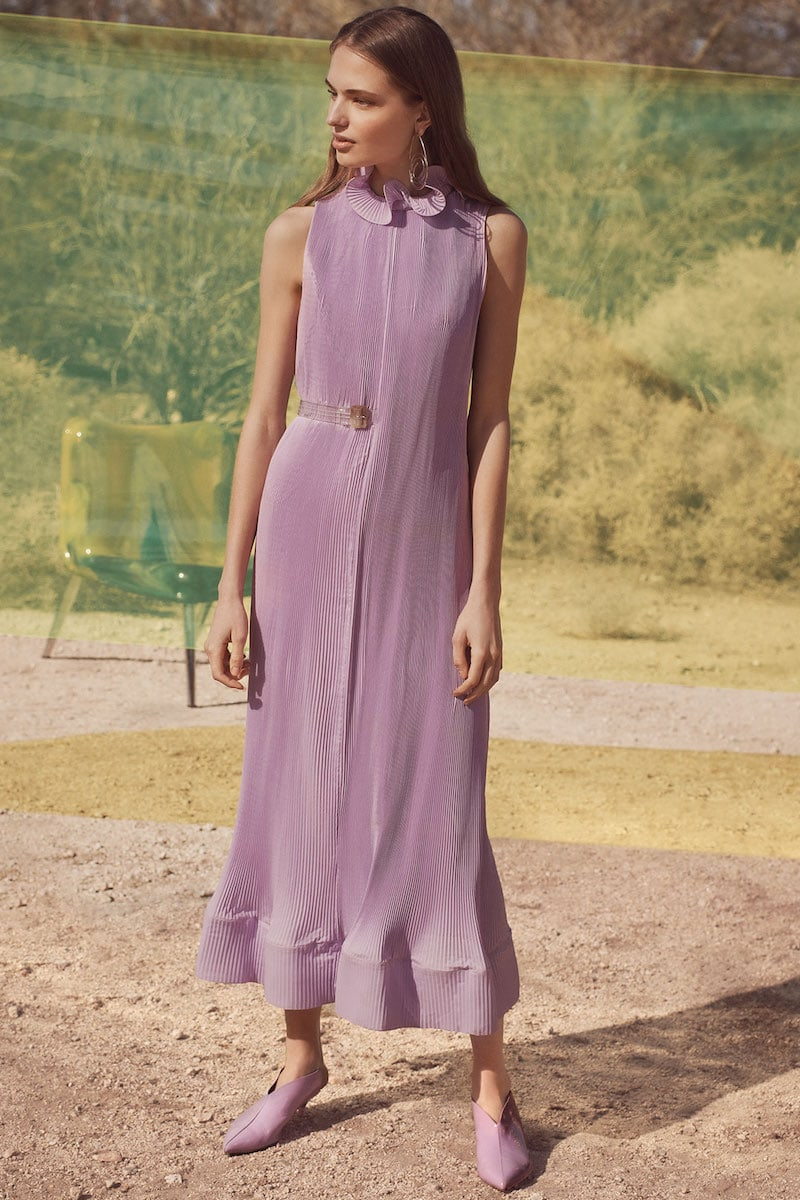 Tibi Sleeveless Dress With Belt