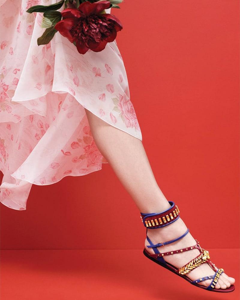 Valentino Garavani Odissey Ankle Strap Sandals