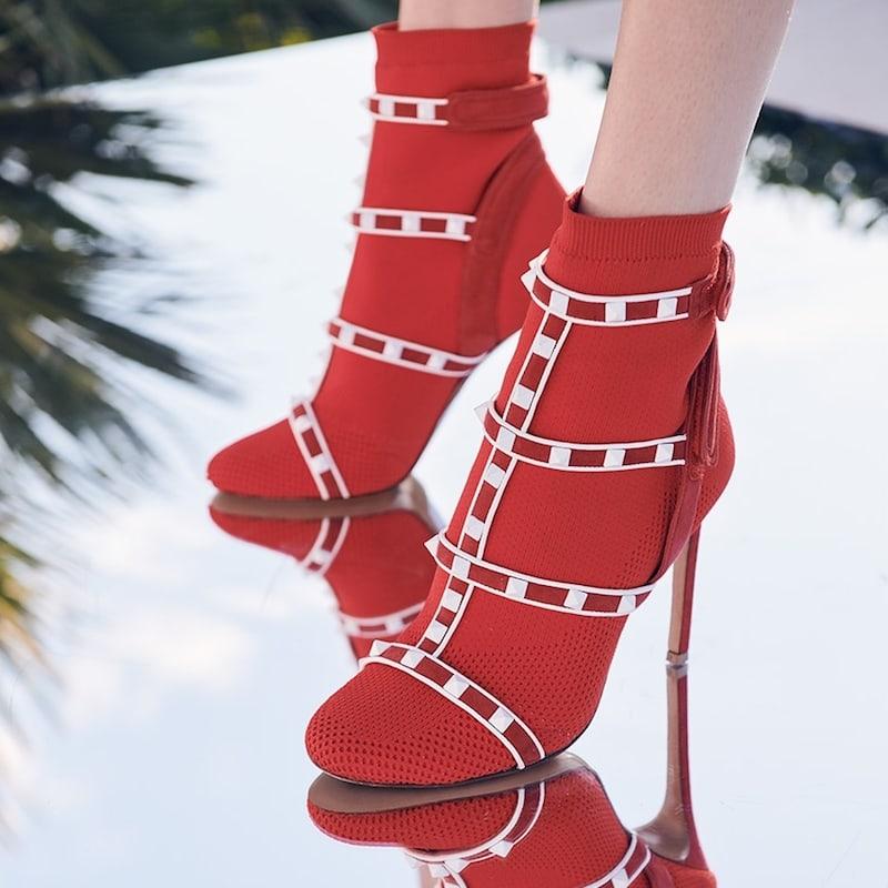 Valentino Garavani Rockstud Sock Booties