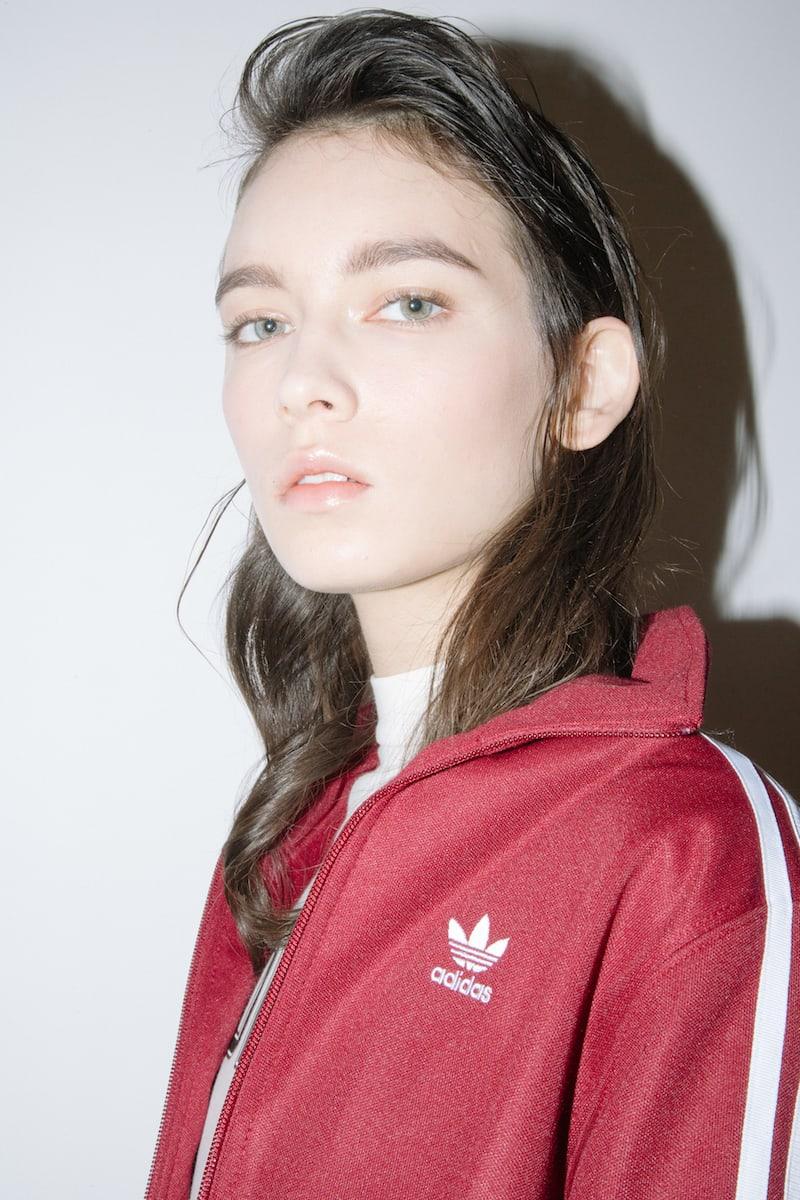 adidas Originals Contemp Cotton Blend piqué Sweatshirt