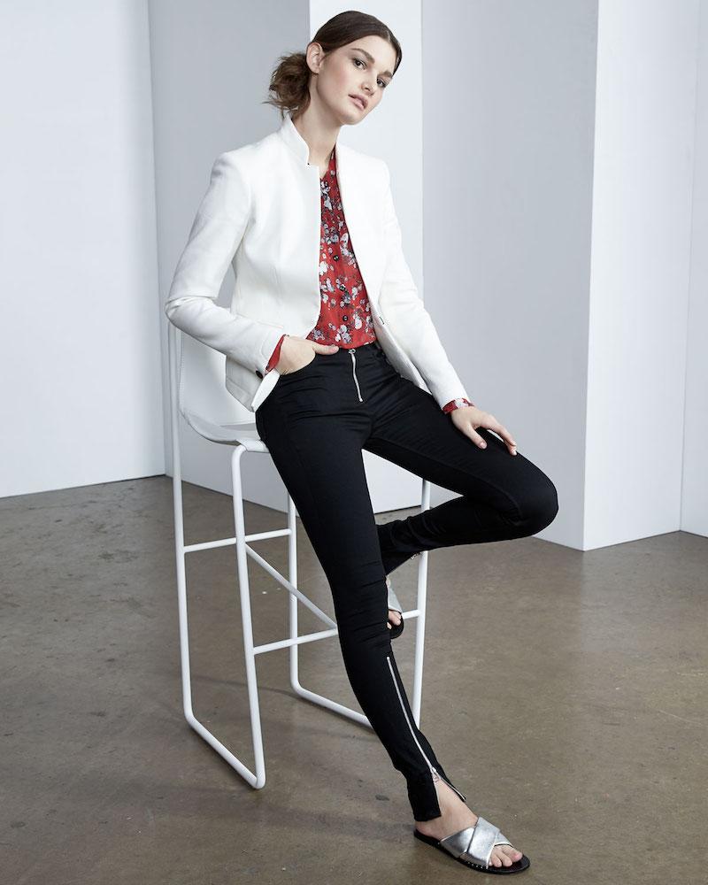 rag & bone/JEAN Isabel High-Rise Moto-Inspired Skinny-Leg Jeans