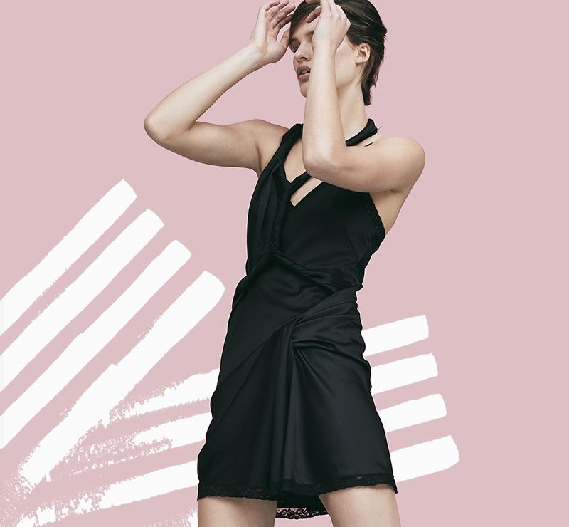 Alexander Wang Deconstructed Twist Dress