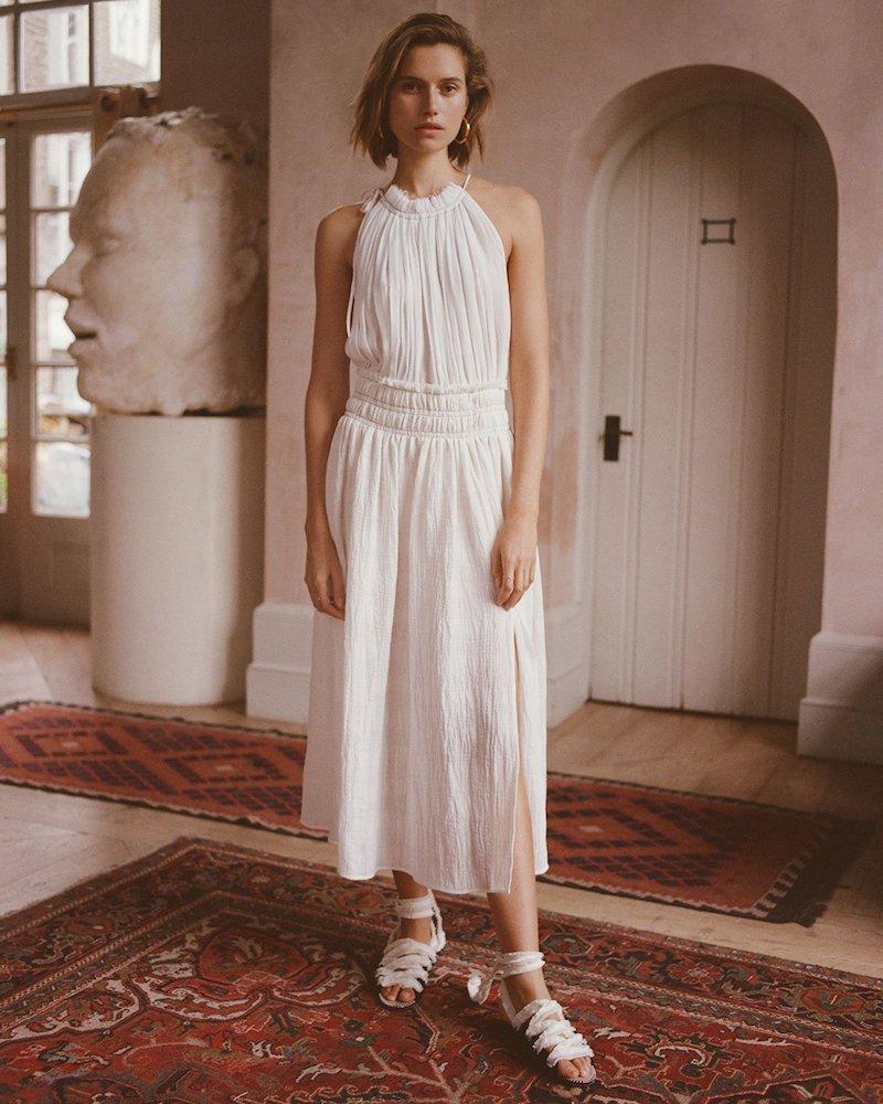 Altuzarra Vivienne Gathered Midi Dress