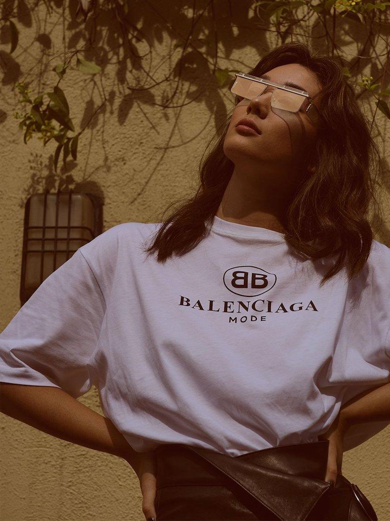 Balenciaga Logo-Print Dropped-Shoulder Cotton T-Shirt