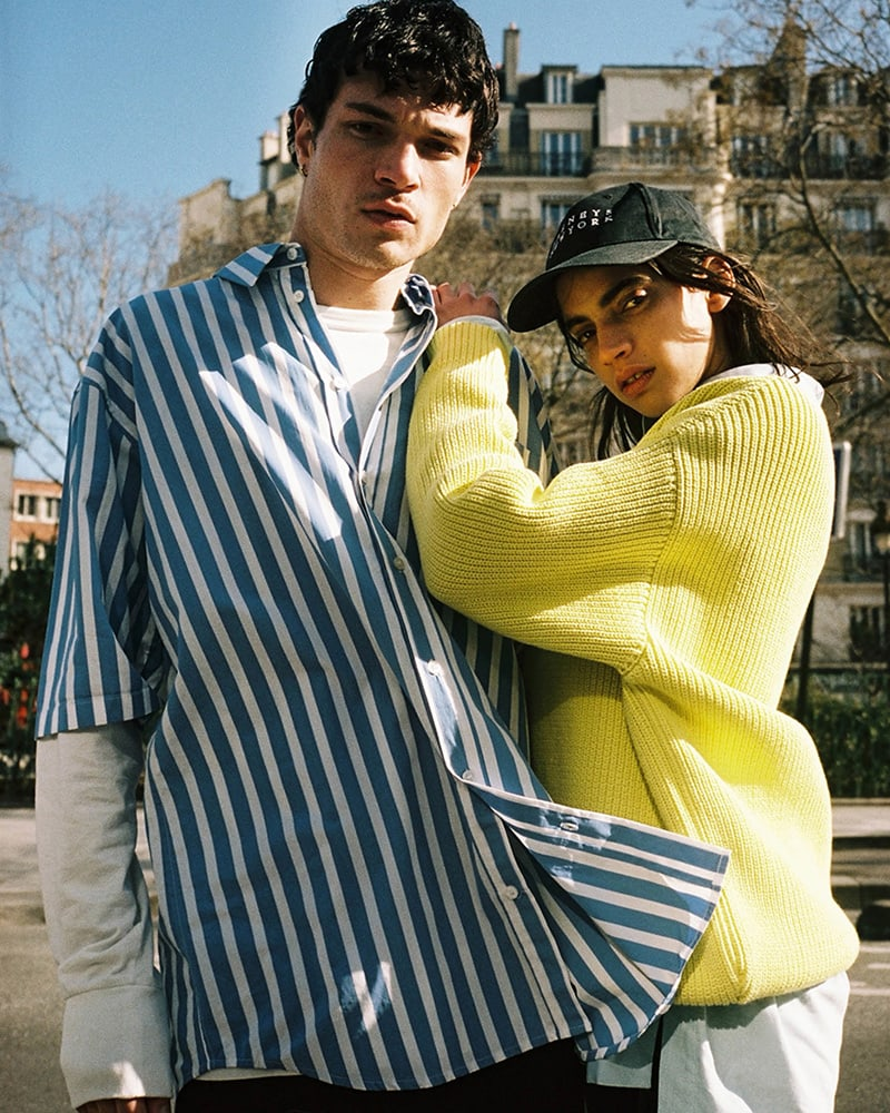 Balenciaga Oversized Shaker-Stitched Cotton-Blend V-Neck Sweater