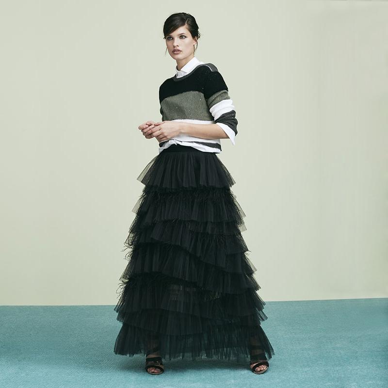 Brunello Cucinelli Linen and Silk Striped Sweater