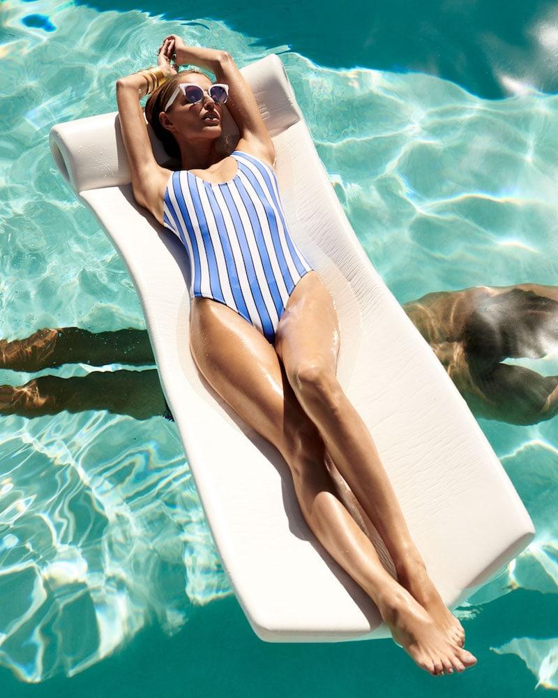 Caroline Constas Aristi Scoop-Neck Striped One-Piece Swimsuit