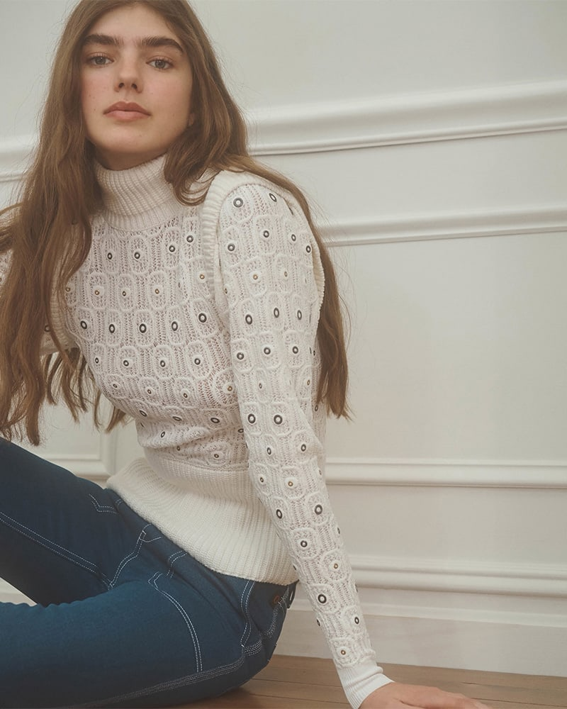 Chloé Lace-Knit Sweater