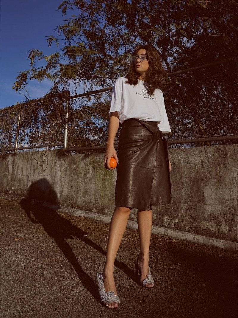 Isabel Marant Breyson Leather Wrap Skirt