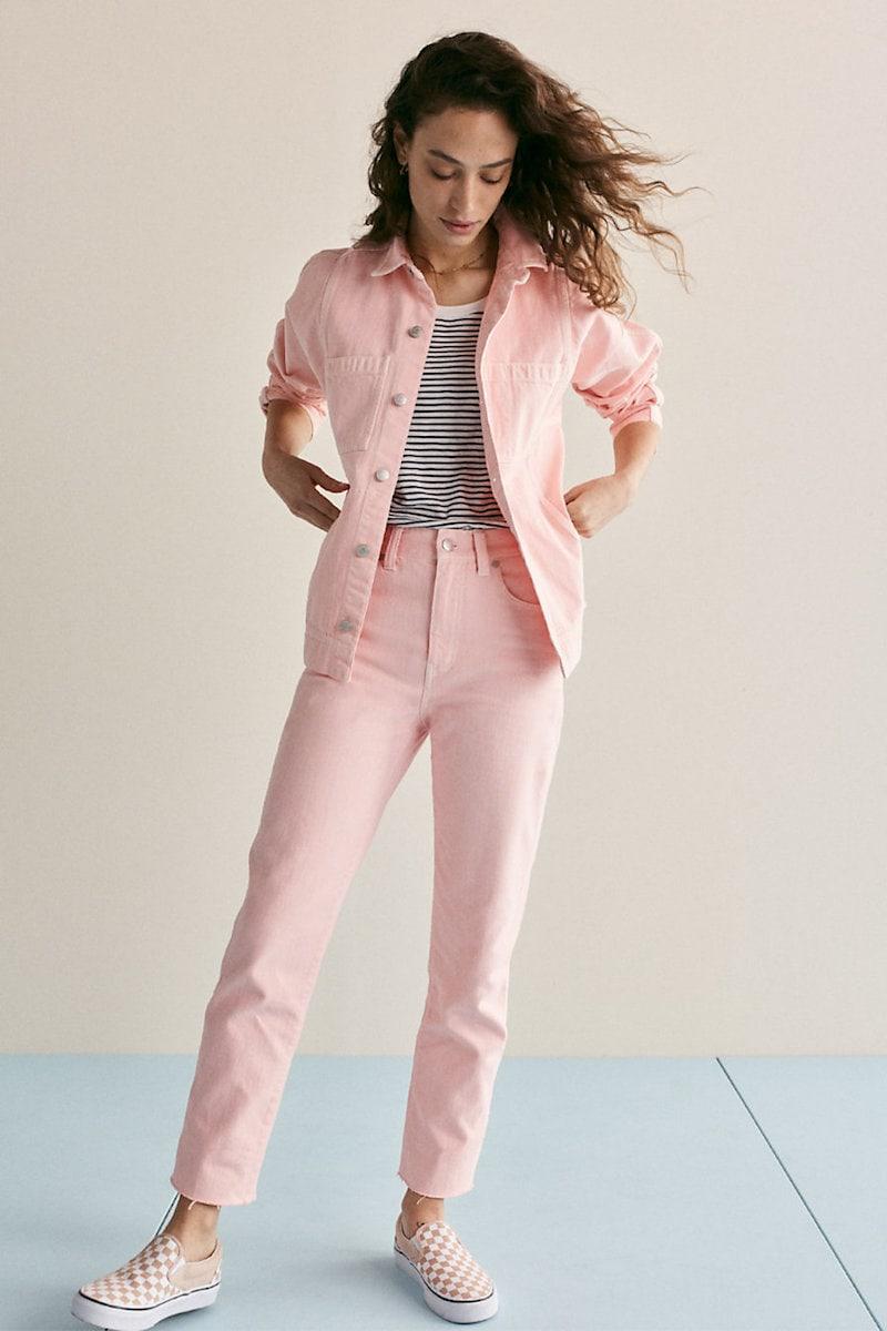 Madewell Garment-Dyed Straight-Leg Jeans