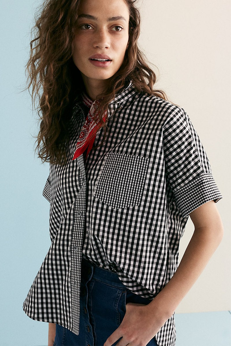 Madewell Gingham-Play Button-Down Shirt