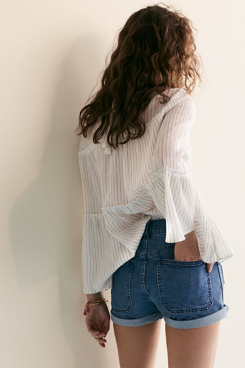 Madewell High-Rise Denim Shorts Patch Pocket Edition
