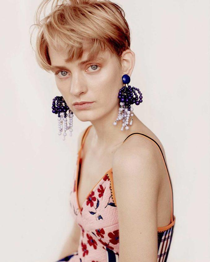 Marni Bead-Embellished Clip-On Earrings