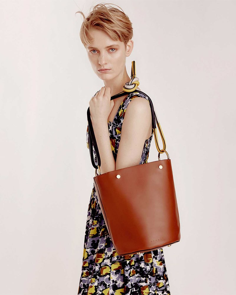 Marni Leather Bucket Bag