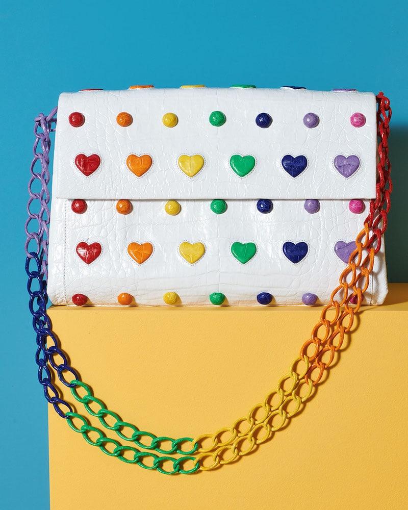 Nancy Gonzalez Crocodile Heart Flap Shoulder Bag