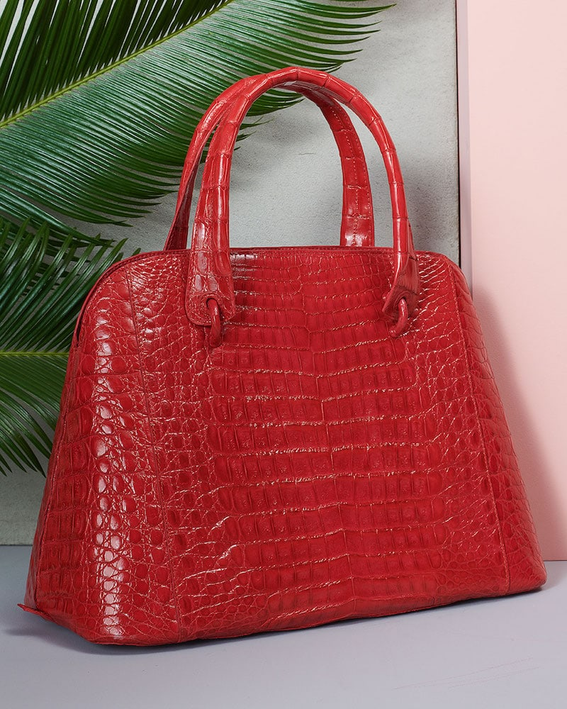 Nancy Gonzalez Crocodile Medium Open Dome Tote Bag