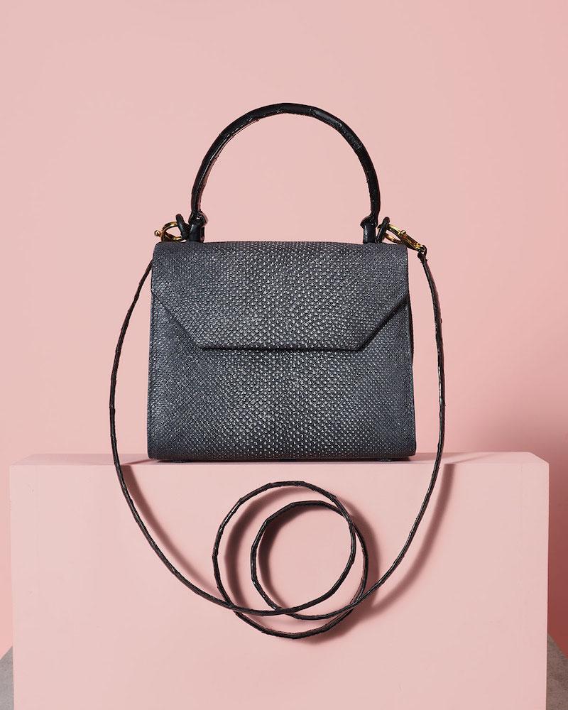 Nancy Gonzalez Karung Snakeskin Small Top-Handle Crossbody Bag