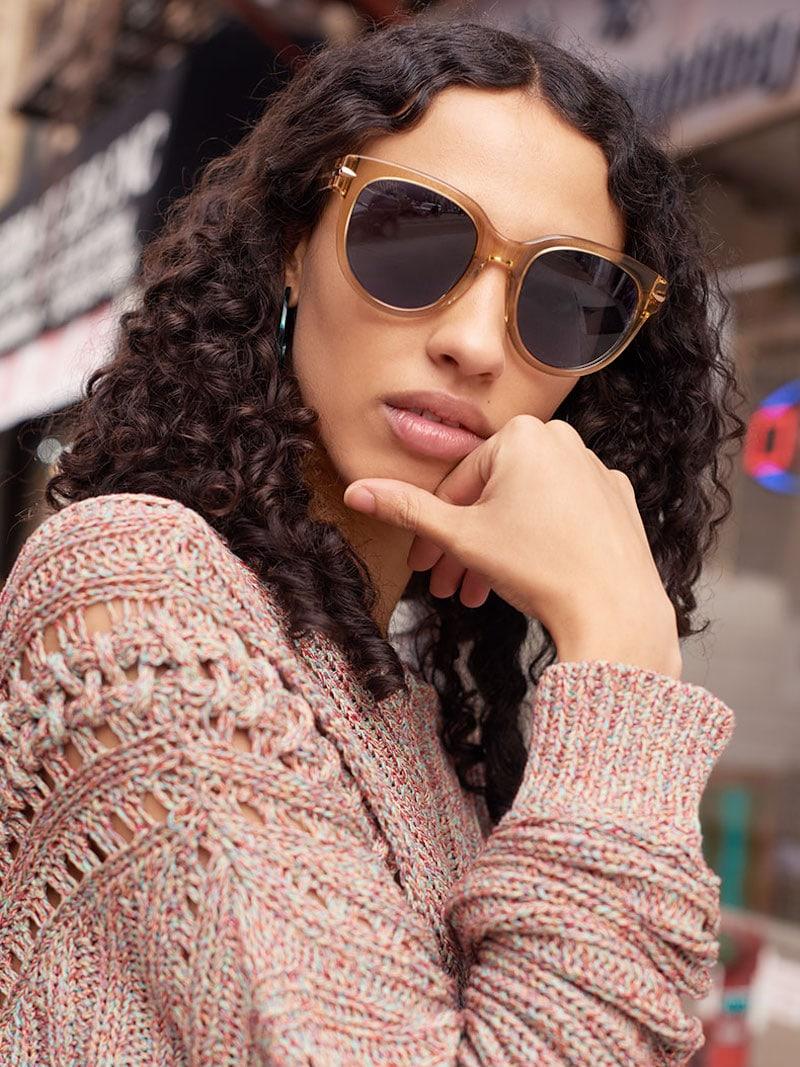 Rag & Bone Iconic Rounded Sunglasses