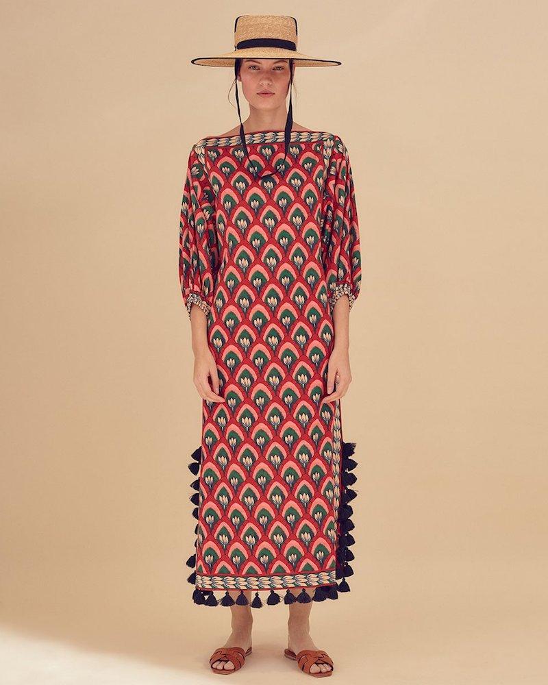 Rhode Resort Delilah Floral-Print Off-the-Shoulder Dress