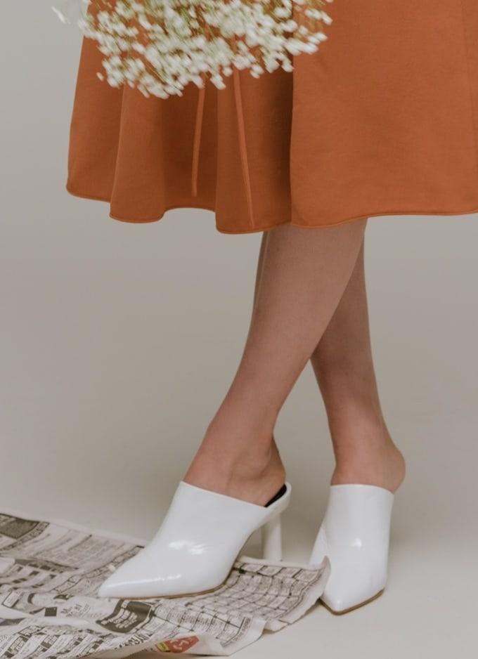 Tibi Liam Crinkle Patent Heel