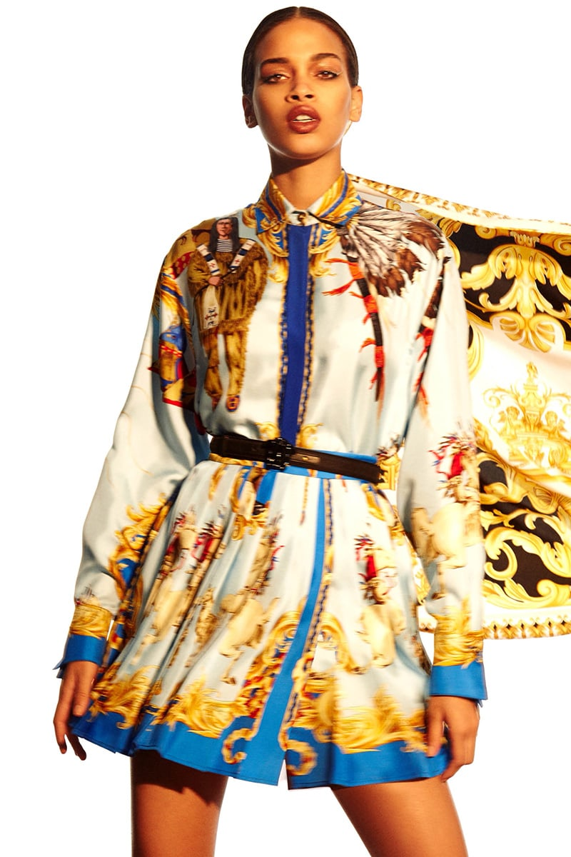 Versace Graphic Silk Blouse