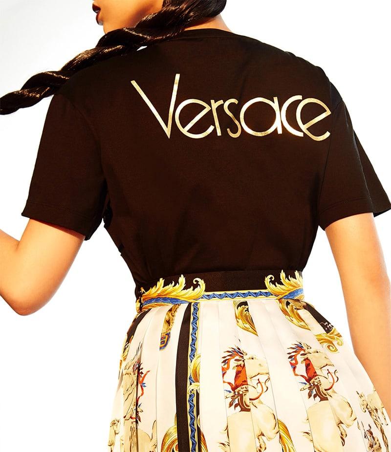 Versace Logo Cutout Cotton T-Shirt