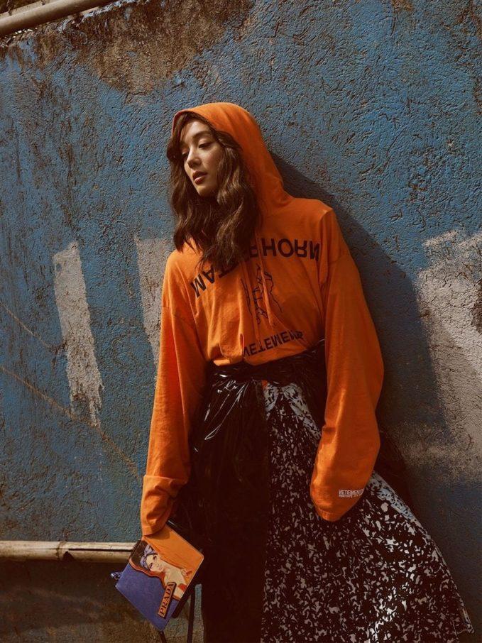 Vetements Printed Hooded Sweatshirt
