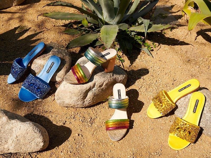 alice + olivia Abbey Crystal Slides