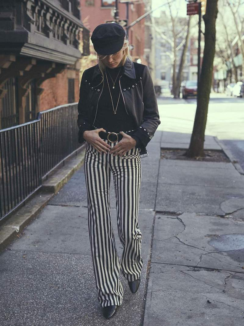 Altuzarra Serge Striped Cotton-Blend Flared Pants