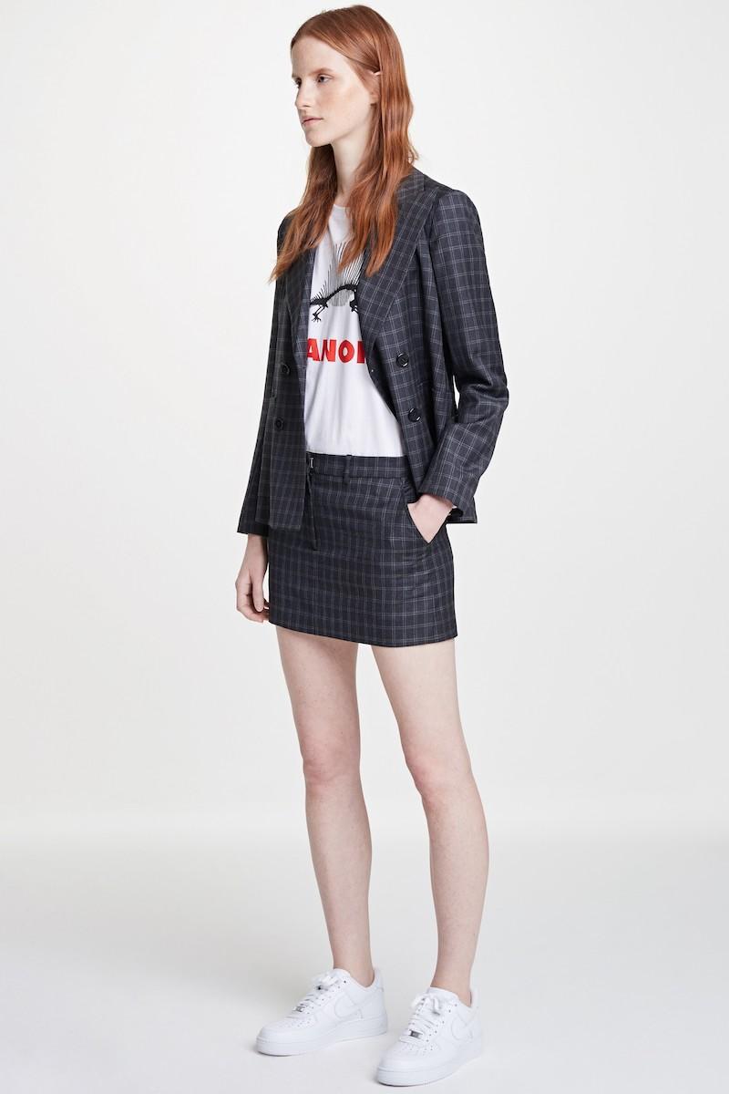 Ashley Williams Executive Plaid Wool Jacket