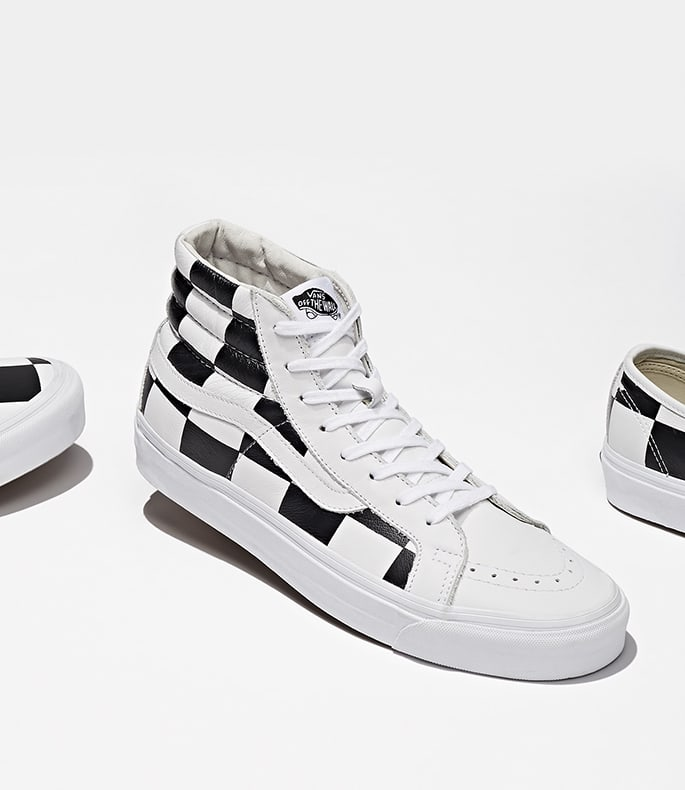 BNY Sole Series x Vans OG Sk8-Hi LX Leather Sneakers