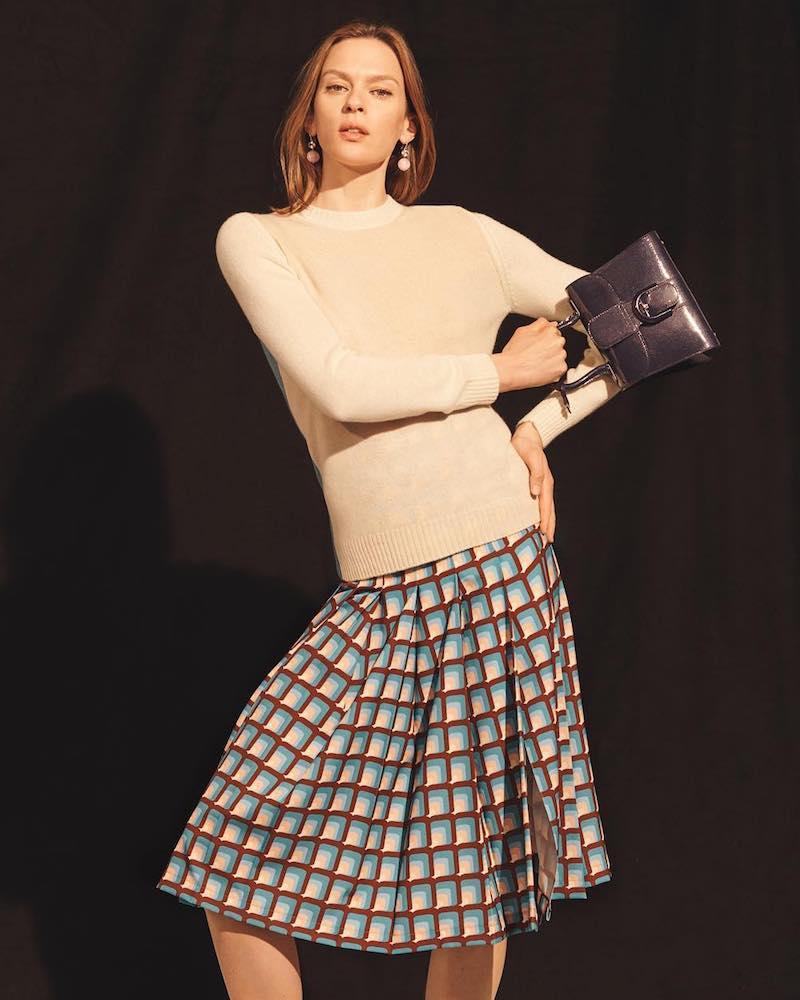 Barneys New York Colorblocked Cashmere Crewneck Sweater