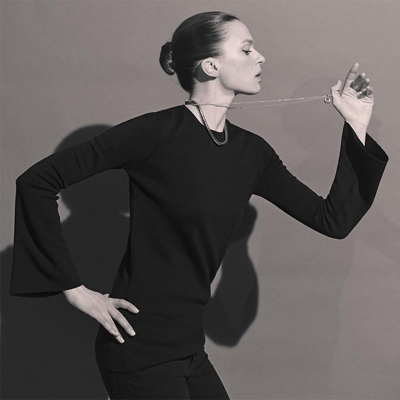 Barneys New York Wool-Silk Bell-Sleeve Sweater