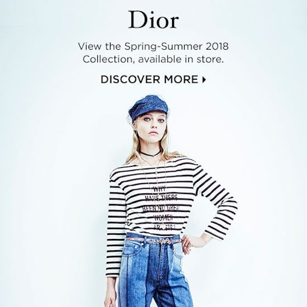 Discover Dior Spring Summer 2018 Collection at Bergdorf Goodman