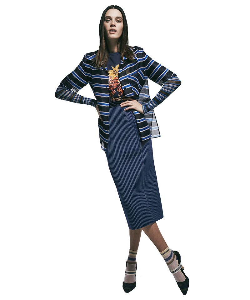 Fendi Striped Organza Shirt