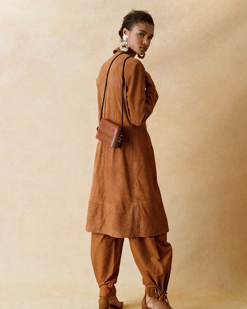 Giani Firenze Waist-Belt Suede Dress