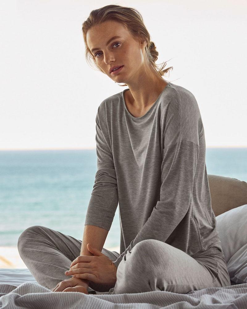 Hanro Natural Elegance Long Pajama Set