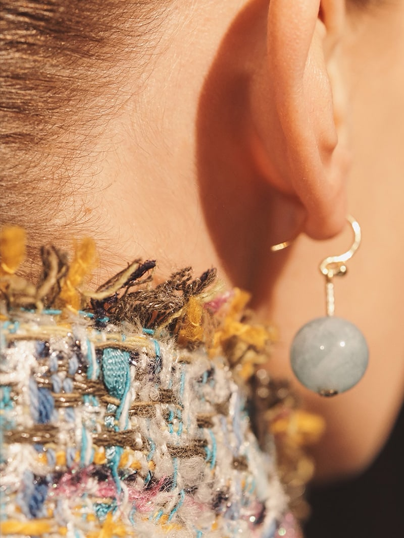 Irene Neuwirth Gemstone Sphere Drop Earrings