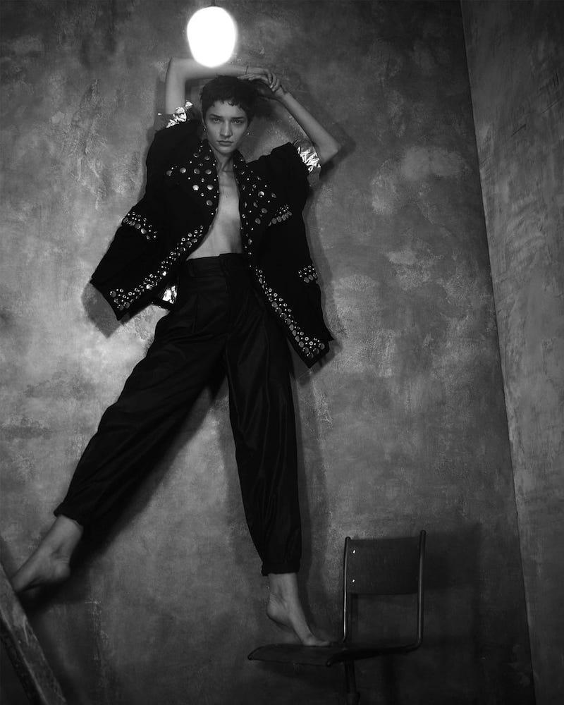 Isabel Marant Emmy Stud-Embellished Jacket