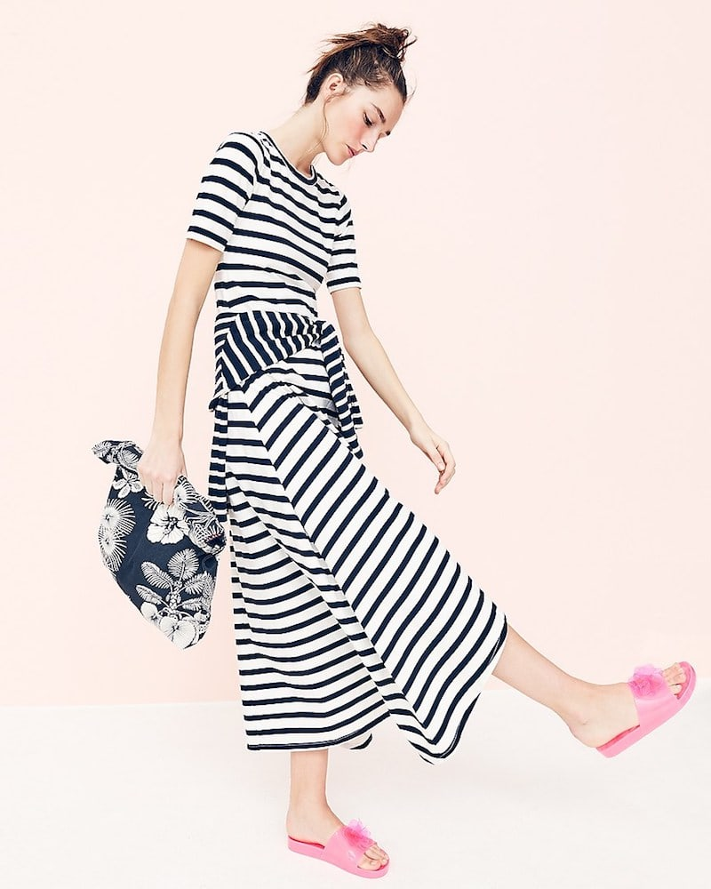 J.Crew Striped Knit Maxi Dress