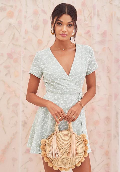 J.O.A. Wrap Dress