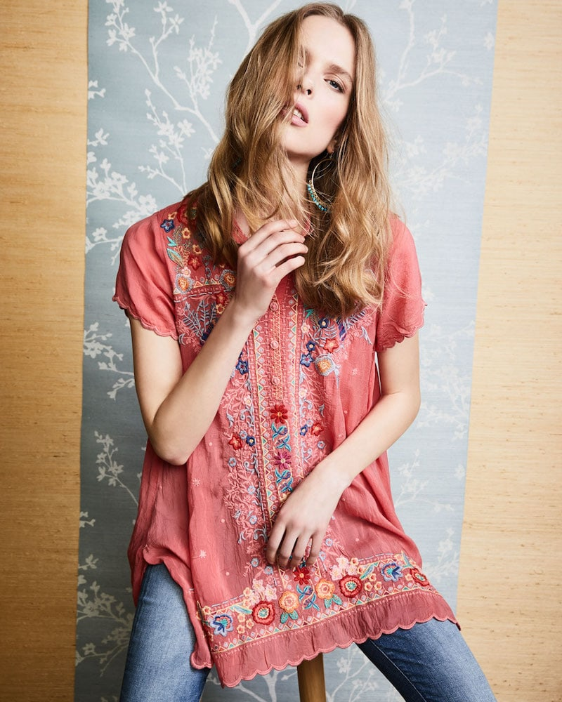 Johnny Was Mikones Embroidered Tunic