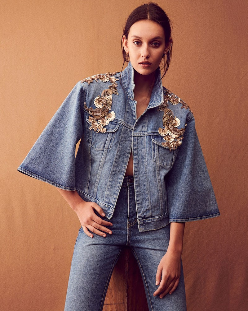 Kobi Halperin Amada Embellished Denim Jacket